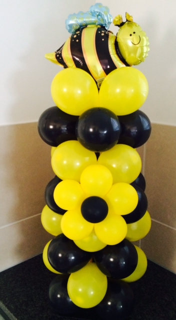 Bumble Bee Balloons Pillar