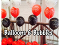 21st Balloons Black & red