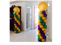 Mardi Gras Theme Balloon Pillar