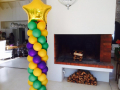 Mardi Gras Theme Balloon Column