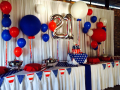 21st Balloon Table Backdrop