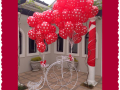 Red Polka dot balloons for wedding