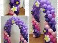 Spring Balloon Arch in purple & pink
