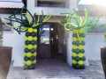 Springbok Themed Funky Pillars in Green & Yellow