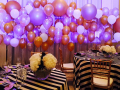 Gold & Silber Balloon Wall