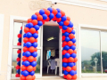 Blue & Red Balloon Arch