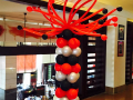 Black & Red Balloon Column