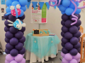 Under the Sea theme balloon arch