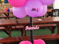 Friendship theme balloon centrepiece