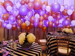 Gold & Silber Balloon Wall