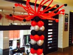 Black & Red Balloon Column