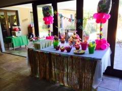 Hawaiin theme sweetie buffet